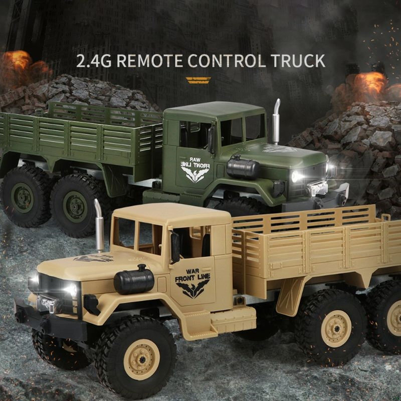 JJRC Q64 1 16 2 4GHz Wireless Remote Control Toy 6WD RC Military Truck Rock Crawler