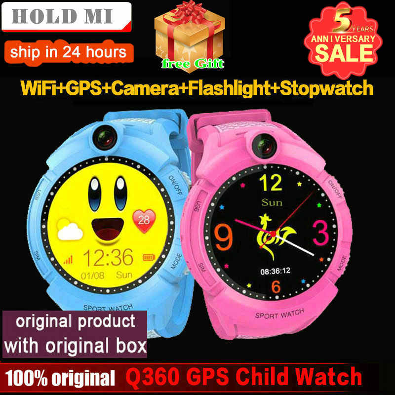 Q360 Kids Smart Watch with Camera GPS WIFI Location Child smartwatch SOS Tracker Anti-Lost Monitor baby WristWatch PK Y1 Clock