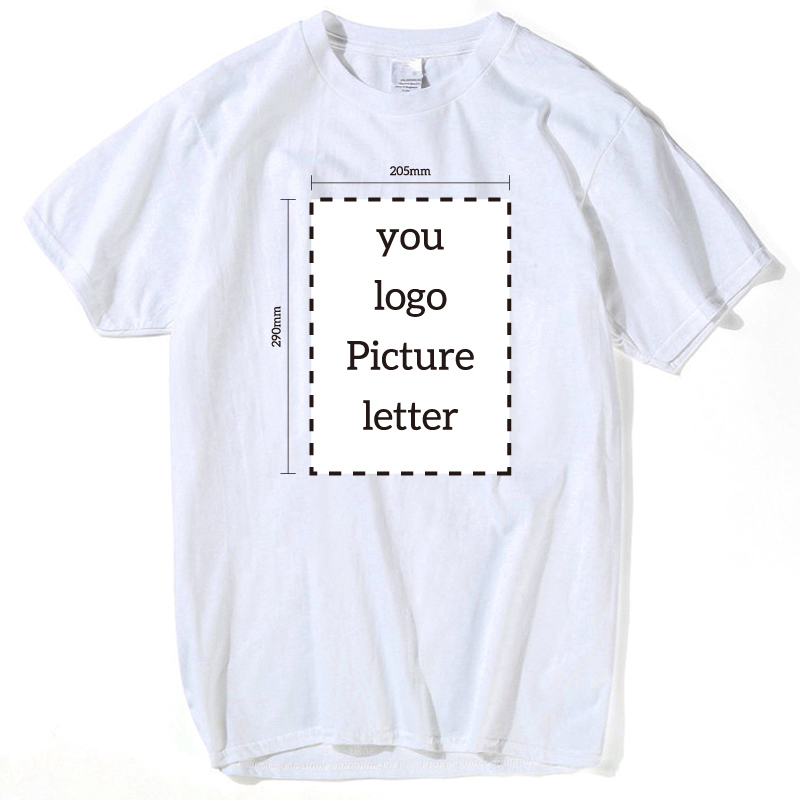 Custom Logo Print Free T Shirt O Neck Adult Men or Women Short Sleeve T-Shirt design Cus ...