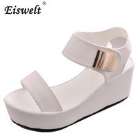 EISWELT Woman Sandals 2017 Summer Women Concise Platform Open Toe Casual Shoes Woman Fashion Thick Bottom