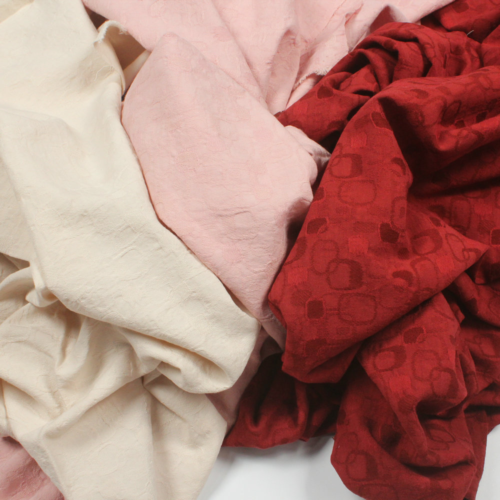 Fashion Fabric Cotton Jacquard DIY Apparel Fabric 50x140cm