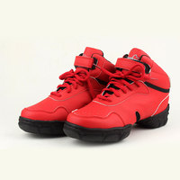 Fashion High Quality Mirco Leather Women S Modern Dance Sneakers High Top Jazz Dancing Shoes Fitness