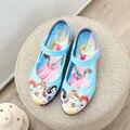 WENDYWU Высокого качества детская обувь обувь для девочек милый мультфильм девушки одеваются обувь дети пу кожаные одиночные обувь детская