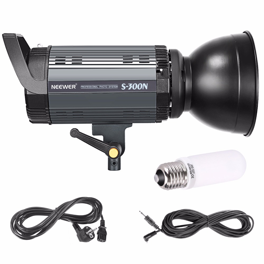 все цены на Neewer S300N Professional Studio Moonlight Strobe Flash Light 300W for Indoor Studio Location Model and Portrait Photography