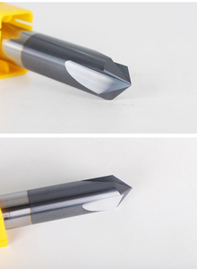 Image 4 - Free shipping 1PCS,CNC solid carbide tungsten carbide aluminum Chamfer milling cutter,30&45&60 degree 3 flutes end mill,