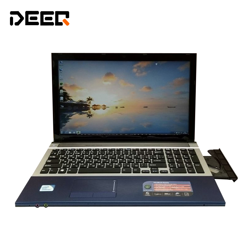 15.6 inch gaming laptop notebook computer Wtih DVD 8GB DDR3 750GB HDD in tel Pentium 2.0Ghz WIFI webcam HDMI