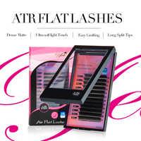 Yelix Individual Flat Lashes False Eyelash Extension Ellipse Eyelashes Flat Eyelash Natural Matte Split-tips Eyelashes 14 PCS