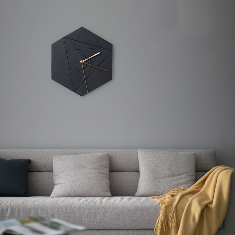 US 4040 240% OFFHexagonal Cement Geometric Pattern Wall Clock Silicone Mold Living Room Bedroom Concrete Gypsum Resin Clock Moldin Clay Molds From Inspiration Mold In Bedroom Creative Property