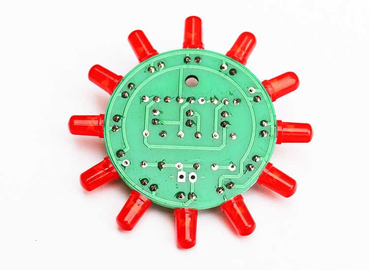 Diy Электронный набор, набор светодиодных круглых водяных ламп, набор для обучения мастерству, пайки, практичные детали