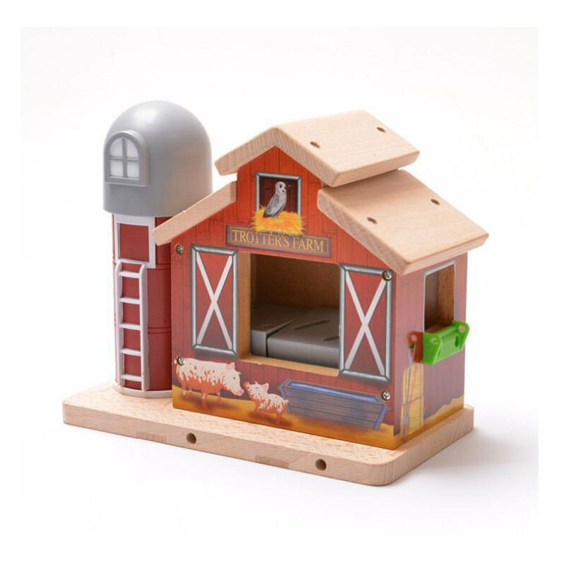x072 Thomas Manually sound vibrations Bird House ranch house Track game scene fit Electric Thomas and Brio wooden train цена и фото