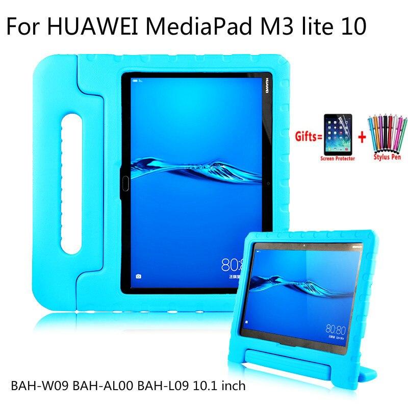 Children Case For Huawei Mediapad M3 Lite 10 Hand-Held Shockproof EVA Silicon Cover Case For BAH-W09 BAH-AL00 BAH-L09 10.1