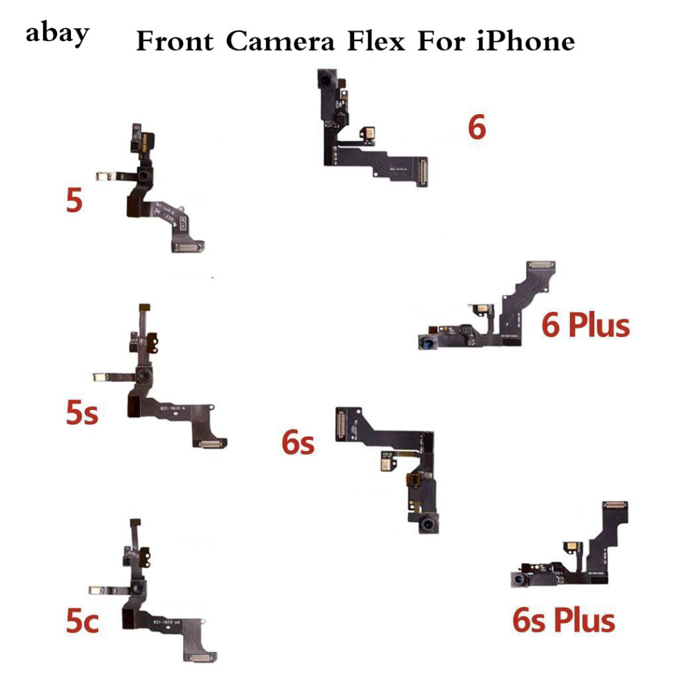 High Quality Front Camera For IPhone 5 5S 5C 6S 6 Plus Front Facing Camera Lens Proximity Sensor Flex Cable