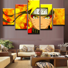 5 Pcs Naruto Cartoon Characters Modular Picture Canvas Painting Wall Art Prints Home Decor Panels Poster For Living Deco