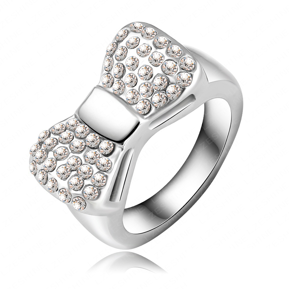 Wedding Bands Rings With  Austrian Crystal Fashion Jewelry Ri
