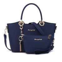 2 Bags Set 2017 Fashion Women Leather Handbag Women Messenger Bags Crossbody Bags High Quality Famous