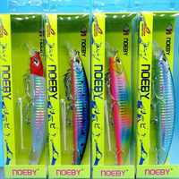 NOEBY 4PCS/LOT NEW Floating minnow fishing lure 23g/130mm 4colors Depth 0-1.5m Crankbait Bass Pike Bait Fishing Tackle