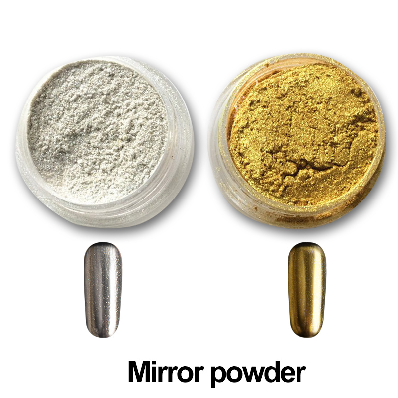 ₩Shinning Mirror Powder Pigment Powder for Nail Art Gold Sliver ...