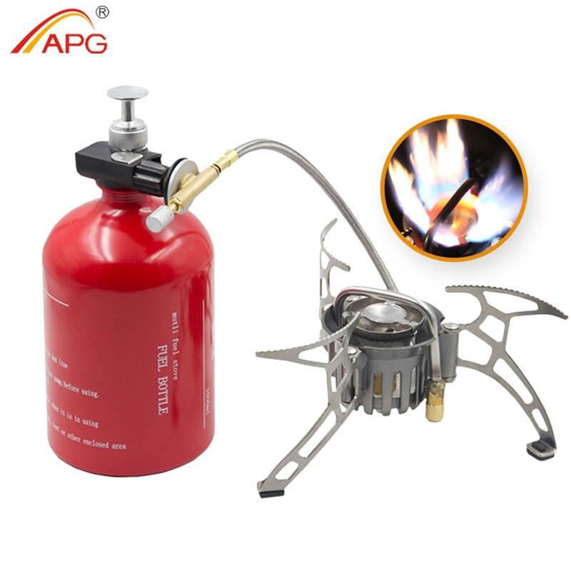 Estufa de gasolina de gran capacidad APG de 1000 ml y quemadores de gas portátiles al aire libre