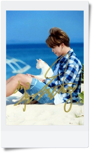 signed BTS Jimin autographed photo 6 inches SUMMER free shipping K-POP  09201702