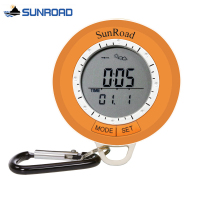 SUNROAD Men Women Pocket Watch Camping Hiking Pedometer Altimeter Barometer Compass Thermometer Weather Forecast Digital Clock