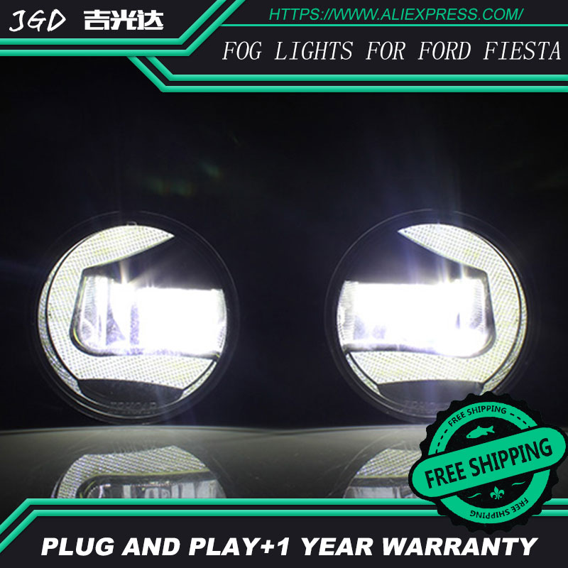 For Ford Fiesta 2009-2012 LR2 Car styling front bumper LED fog Lights high brightness fog lamps 1set