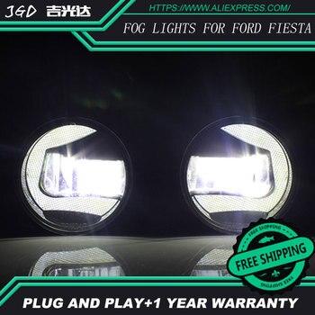 For Ford Fiesta 2009-2012 LR2 Car styling front bumper LED fog Lights high brightness fog lamps 1set