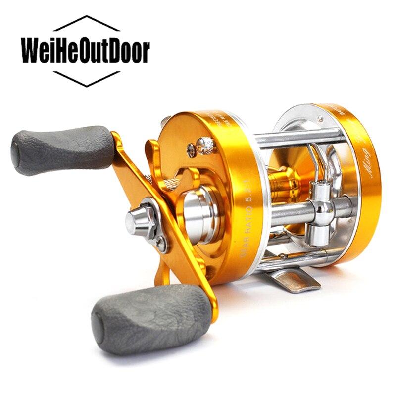 carretel de pesca tambor de metal completo centrifugo mecanico duplo sistema de travagem 2 1bb fundicao