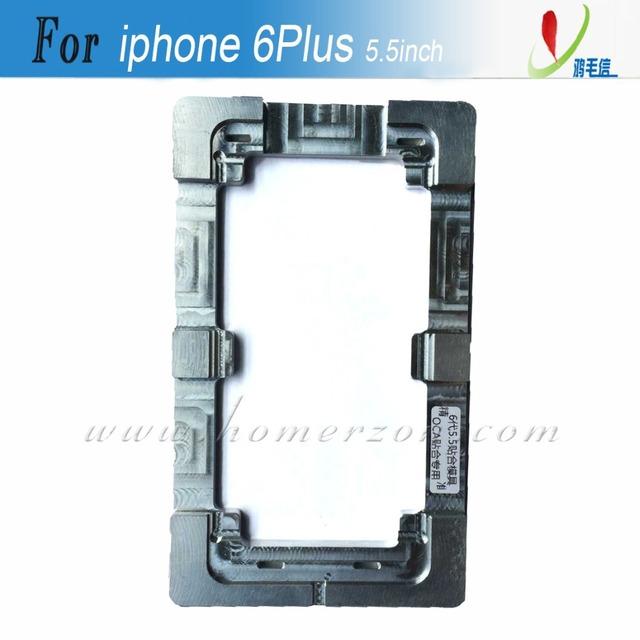 Aleación de aluminio rehabilitación encolado LCD de reparación de vidrio exterior precisa molde alineación molde para el iPhone 6 más 5.5 pulgadas