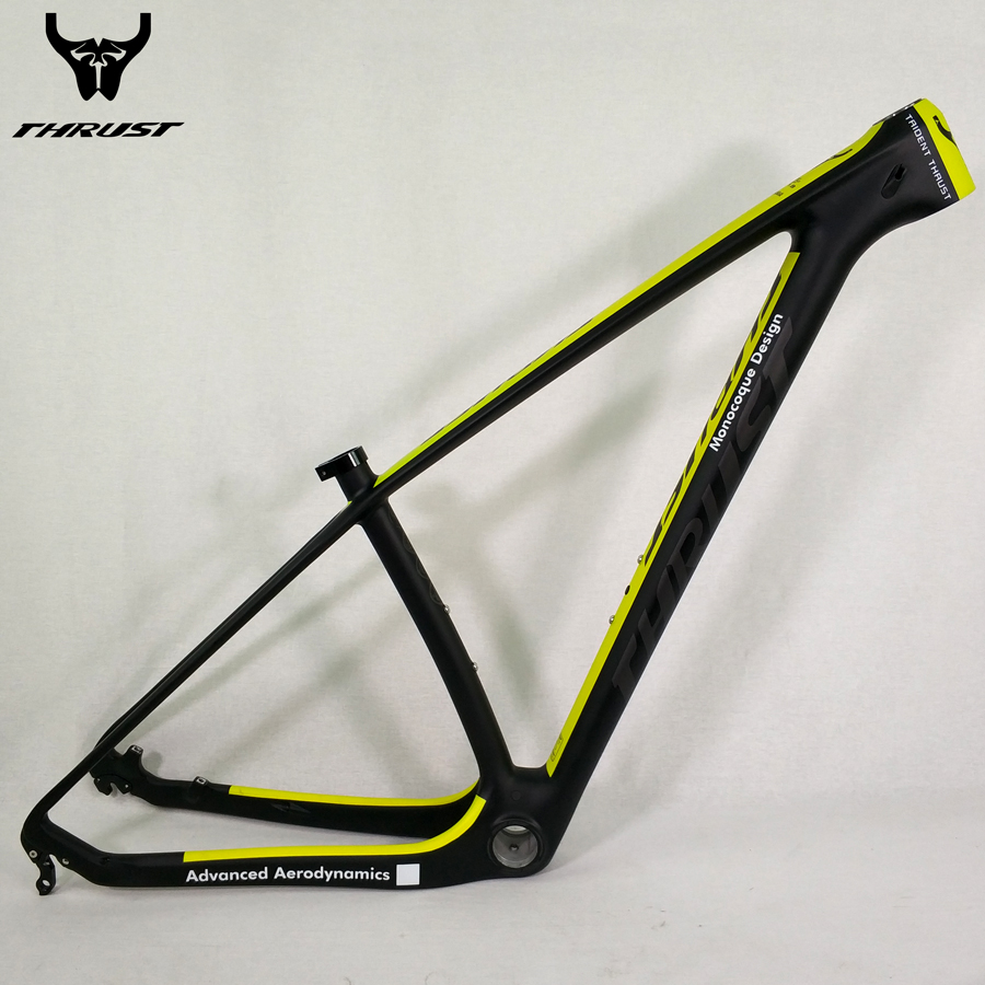 купить THRUST 2017 Carbon Frame mtb 29er 27.5 15 17 19inch Bike Bicycle Frames Chinese Carbon Mountain Frames Yellow дешево