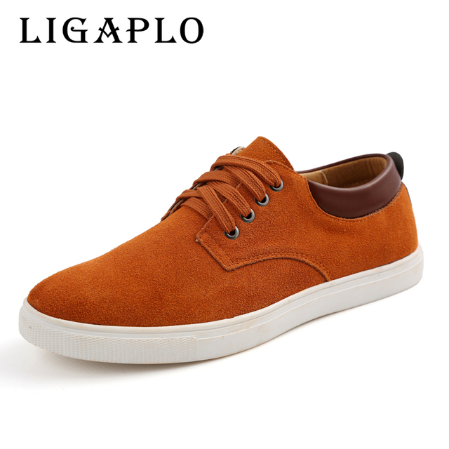 2017 New Hogh Quality Aleader Nubuck Leather Men Shoes Big Size 38-48 European Style Mens Shoes Casual Men Shoes Oxfords