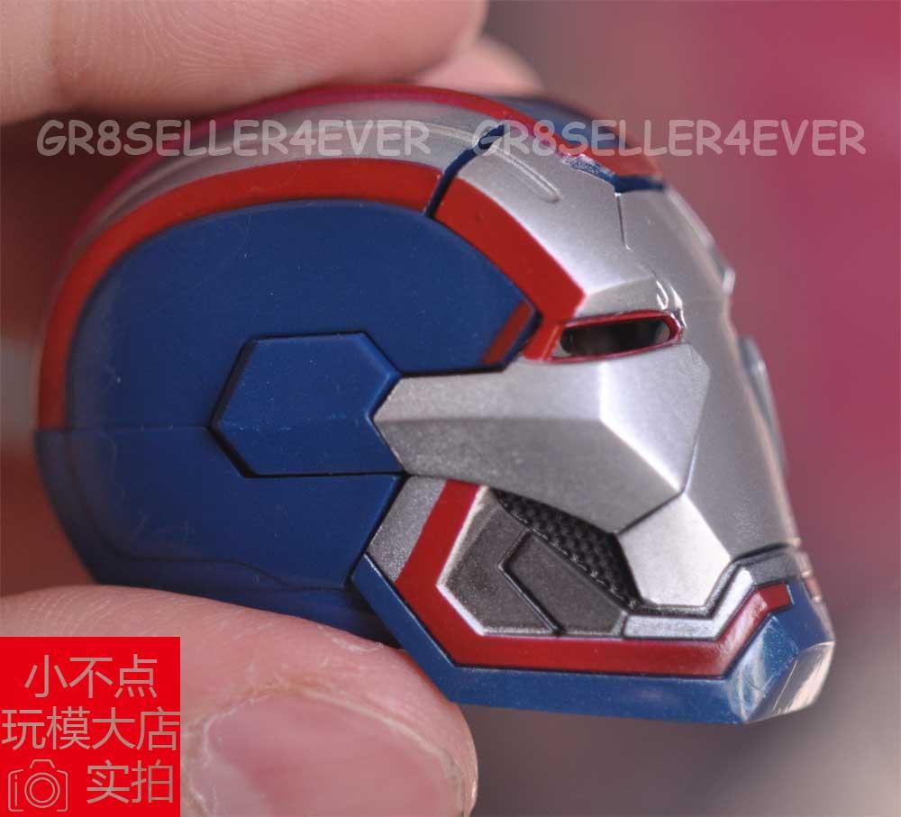 1//6 Scale Iron Man Patriot Head Sculpt A