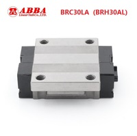 4pcs Original Taiwan ABBA BRC30LA BRH30AL Linear Flange Block Carriage Linear Rail Guide Bearing for CNC Router Laser Machine