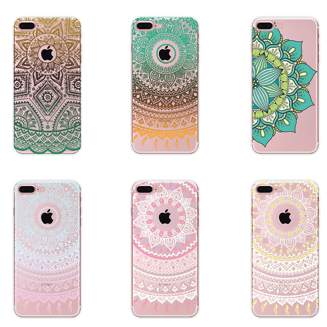 Beautiful Datura Floral Phone Cases For Apple iphone 5 5s 6 6S 7 7 Plus Soft 690d10793e