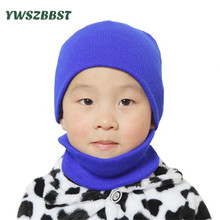 Crochet Fashion Knitted Baby Hat Set Scarf Ring Kids Warm Infant 0-3Y Children Caps Suit