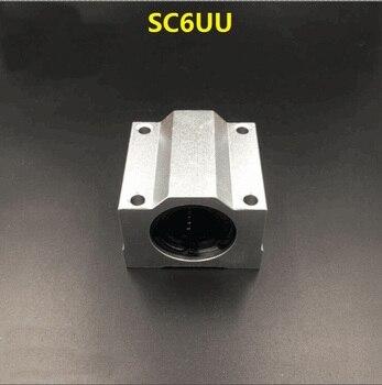 50pcs/lot SC6UU SCS6UU 6mm linear case unit SMA6UU linear guide shaft linear Ball Bearing Slide Block for cnc router 3D printer