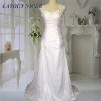 Fashionable Cheap 2015 Beach Chiffon Wedding Dresses Lace Applique Beaded Straps Sexy Open Back Vestido De