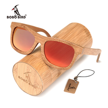 BOBO BIRD Handmade Retro Bamboo Polarized Sunglasses Women And Men With Fashion Gift Box oculos de sol feminina OEM C-BG003e