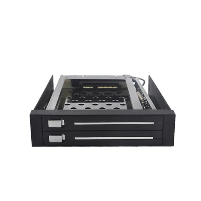 Dupla baía SATA 2.5in extração de armazenamento disco rígido caso hdd
