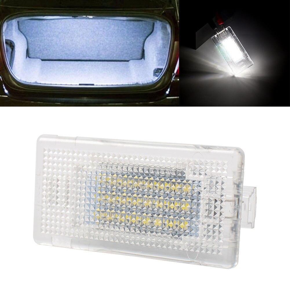 1PC Super LED สีขาวกระเป๋าเดินทาง Trunk สำหรับ BMW 1-Series 3-Series 5-Series 7-Series X-Series X5 X1 E39 E60 E61 F10 M5
