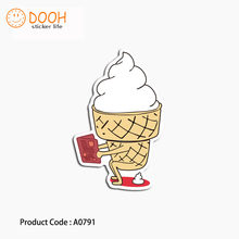 A0791 sticker ice cream triangle kame turtle tongue hobby suitcase laptop guitar luggage DIY skateboard bicycle toy HZ 30(China)