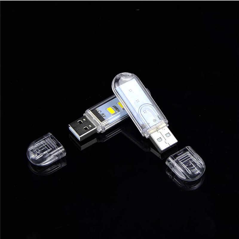 1 sztuk Mini 3LEDs 8LEDs USB 5V LED noc oświetlenie biurka lampka do czytania Camping USB żarówki prezenty dla dzieci ładowarka do telefonu laptopy