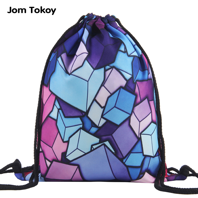 New fashion Women drawstring bag 3D printing travel softback women mochila School Student drawstring backpack