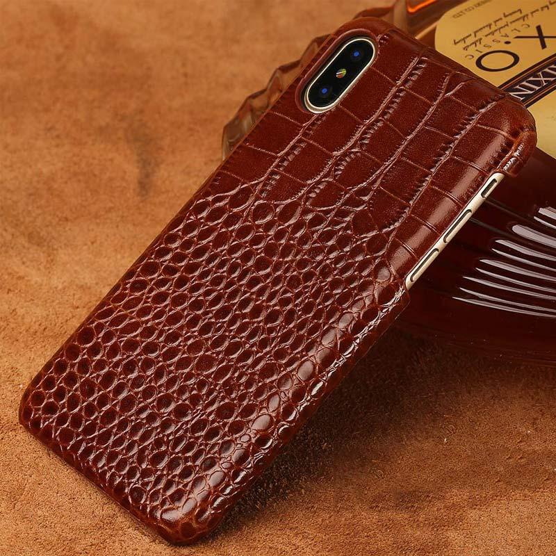 Full Grain Leather Phone Case For Xiaomi Mi 9 8 8Lite 8SE 6 6X A1 A2 Pocophone F1 Redmi 4 4X 5 Plus Note 5 6 Pro Mix Max 2 cover