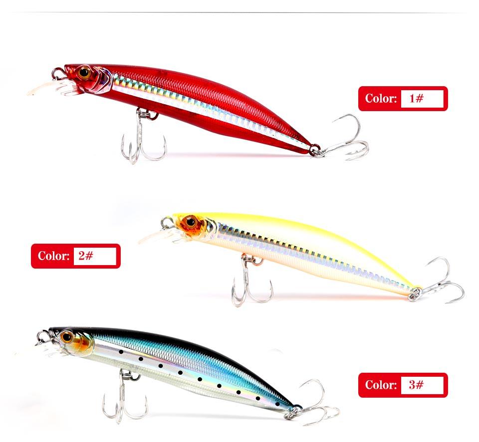 Kingdom fishing lure minnow floating 100mm 20.7g,120mm 30g fishing wobblers lifelike fishing lure Artificial Bait model 5501 (5)