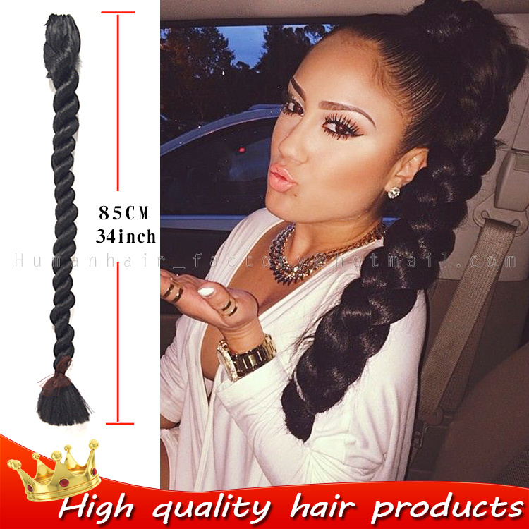 Synthetic Hair Extensions Braiding Hair 34inch High Quality Super