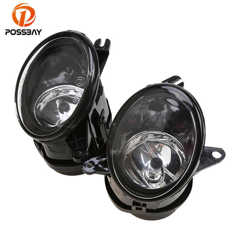 POSSBAY Front Fog Light Driving Bumper Lamp Clear+ H11 Bulb Fit for Audi A6(C5) Sedan/Avant 2002-2005 Car External Lights