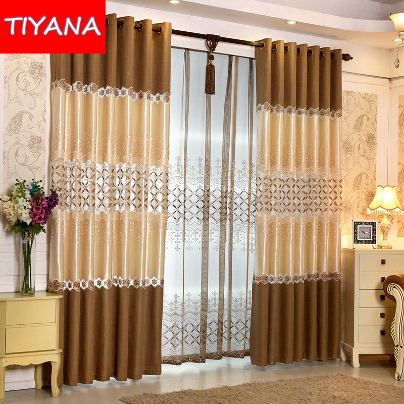The Newest Window Curtain Set Luxury Modern Simple Ready Made Curtain For Liv