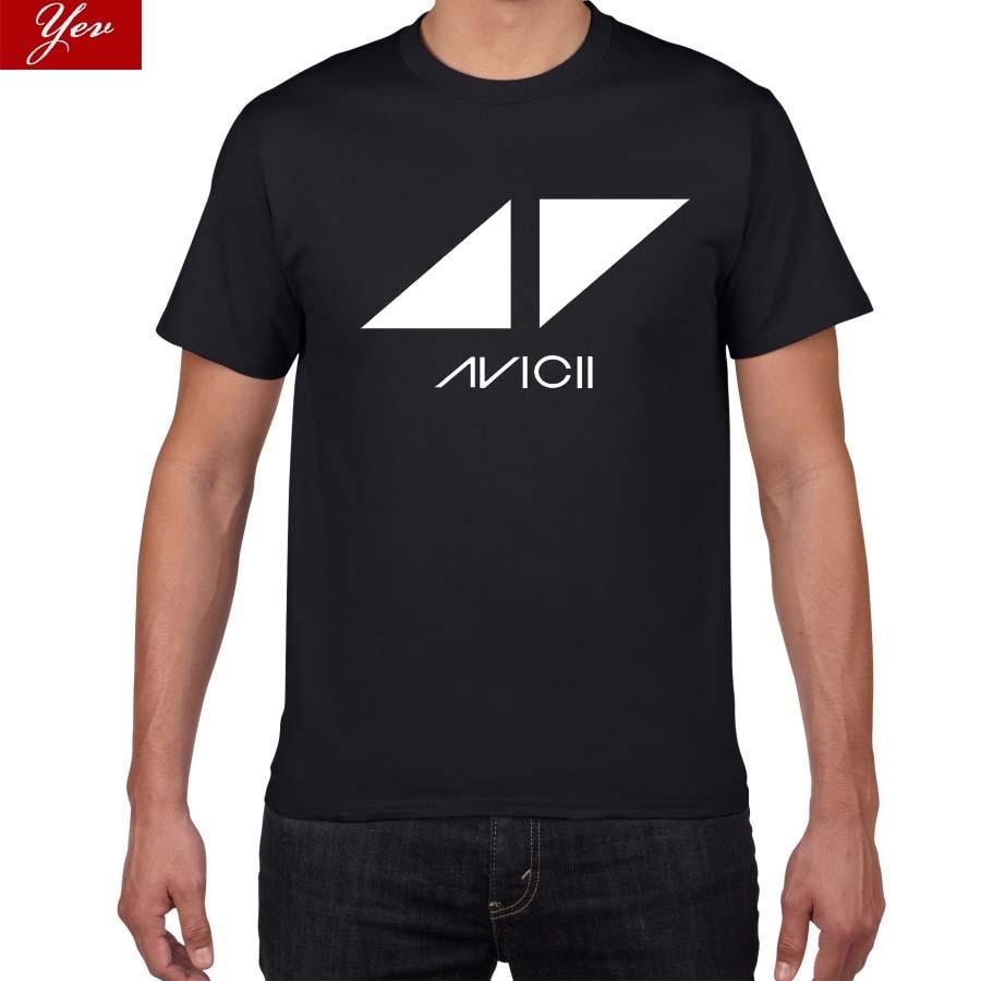 2019 New  Avicii DJ Fans Pok  Harajuku Tshirt Men 100% Cotton Rock Band T Shirt Men Street Wear Tee Shirt Homme Men T-shirt