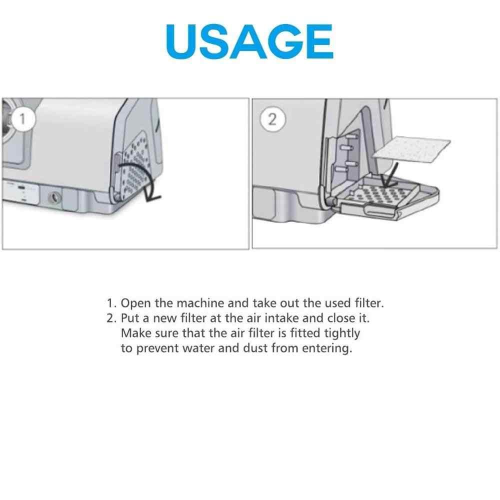 CPAP filtre süngeri ResMed | Premium Tek Kullanımlık Evrensel Filtreler Malzemeleri ResMed AirSense 10-S9-AirStart Serisi CPAP