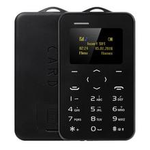 2017 AEKU C6 Мини Чрезвычайным Телефон Карты Телефон С Резервного Бумажник Телефон Ультратонкий Студенческая Версия Кредитной Карты Bluetooth